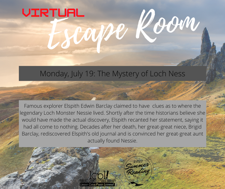 Virtual Escape Room: The Mystery of Loch Ness