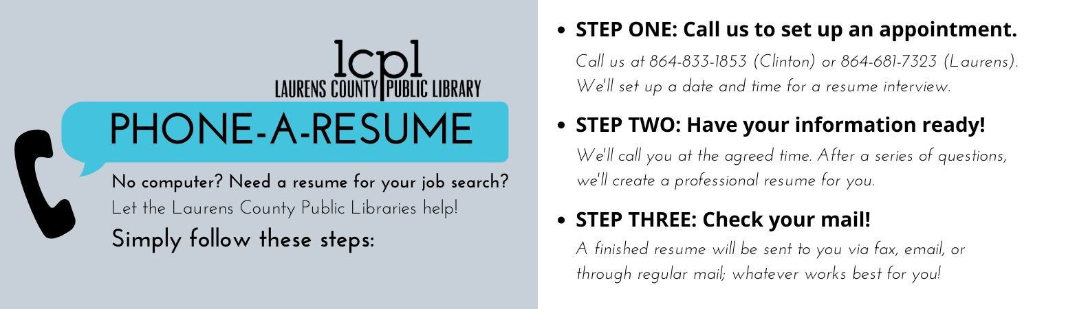 Phone a Resume Banner