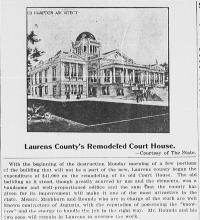 Laurens County Court House 1911