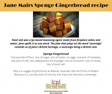 Sponge Ginger Bread Recipe